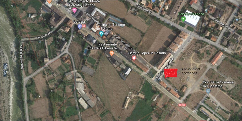 mapa casas adosadas Boltaña